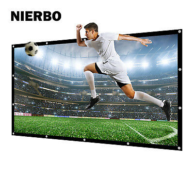 100 inch 16:9 Projector Screen Fabric Matt White Beamer Portable with Eyelets