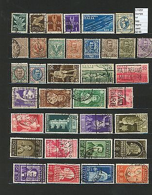 Stamps Lot Italy Regno Used   (L11201)