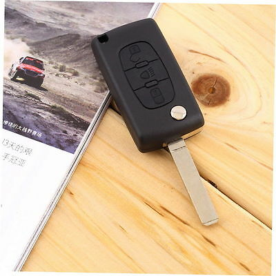 Remote Key Fob Shell Case 3 Buttons for CITROEN Peugeot C2 C3 C4 C5 C6 C8 D#