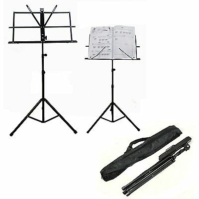 Metal Orchestral Sheet Holder Foldable Music Stand Adjustable Height with Case