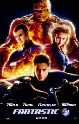 "FANTASTIC FOUR - 2005 - JESSICA ALBA - Orig 27x40 D/S Advance ""B"" movie poster"