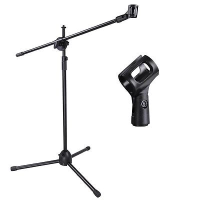 Studio Microphone Boom Stand Mic Tripod Holder with Casters Wheels uk