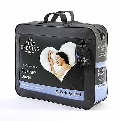 Fine Bedding Company Breathe Synthetic Hypoallergenic Breathable Duvet & Pillows