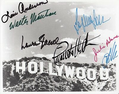 Hollywood Sign - Personally Signed By Sophia Loren - Lauren Bacall - Julie Adams