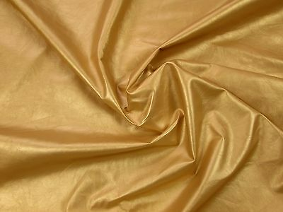 Gold cowhide for leathercraft. Small pieces. Barkers Hide & Leather Skins N267