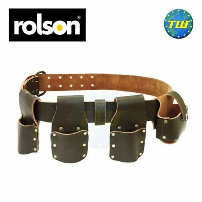 Rolson 4 Pocket Builders Mate Tool Belt Pincer Plier Scaffold Spanner Tape Pouch