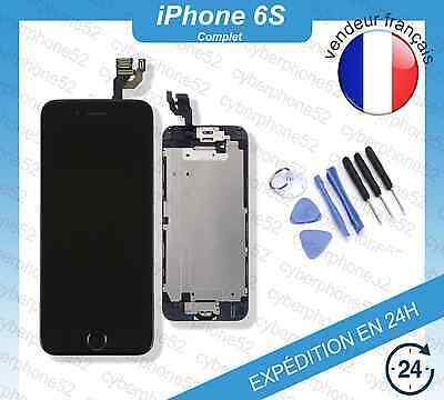 Ecran LCD Retina IPHONE 6S Noir/Blanc COMPLET CAMERA + HOME + OUTILS