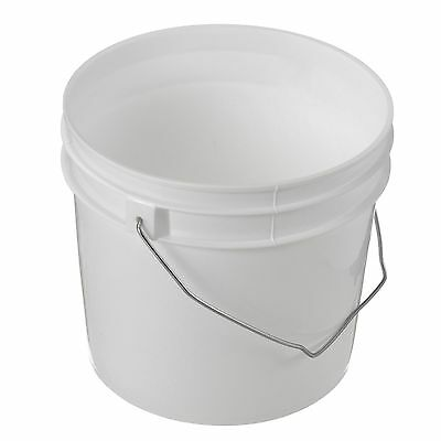 1 Gallon Plastic Bucket/Pail with Cover- Lot of 50
