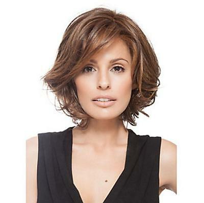 Straight Wigs Fashion Lady Short Wig Wavy Full Hair Party Cosplay Heat Resistant