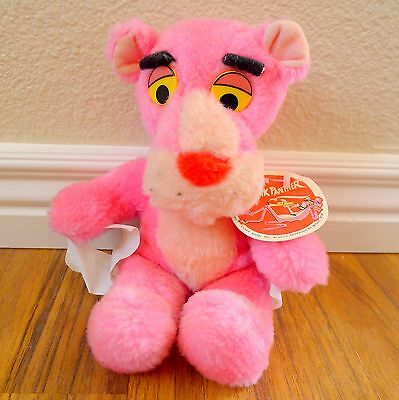 "United Artists Vintage Pink Panther 1980 Plush 11"" Stuffed Animal"