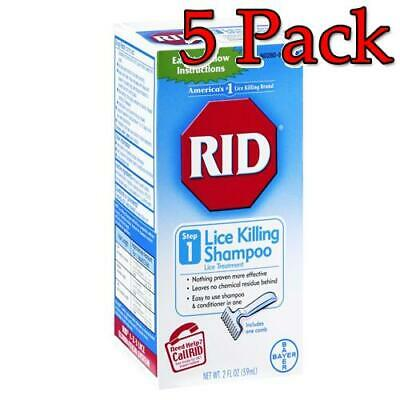 RID Lice Killing Shampoo, Step 1, 2oz, 5 Pack 074300004129T566