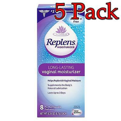 Replens Long Lasting Vaginal Moisturizer, 8ct, 5 Pack 022600001041T1076