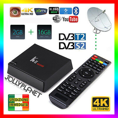 K2 Pro SAT DVB-S2 DVB-T2 Android 7.1 2GB 16GB Quad Core TV Box WiFi 64bit