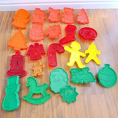 Lot of 20 Vintage Hallmark Cookie Cutter Press Christmas