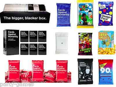 Cards Against Humanity Bigger Blacker Box Main Game Expansion Packs Complete Set