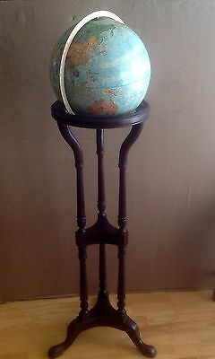 "Vintage Replogle 12"" Diameter World Classic Series Globe on Wooden Display Stand"