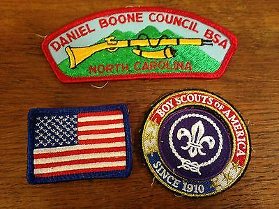 Lot of Boy Scouts of America BSA Daniel Boone NC Embroidered Sew On Patches