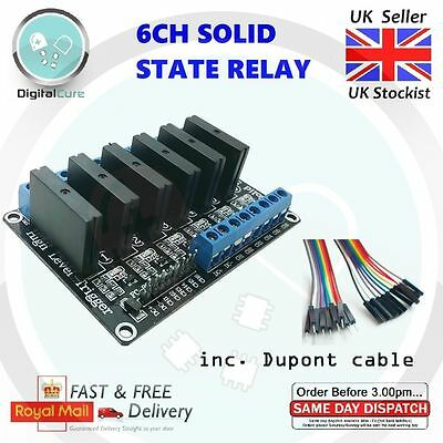 6-Channel 5V OMRON G3MB-202P Solid State Relay Module Fused - Arduino Pi 4ch 8ch