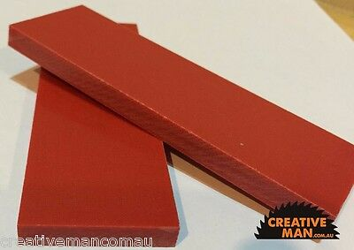 Red Micarta Knife Making Handle Scales 8 mm, free freight from Sydney