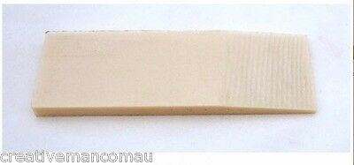 Ivory Linen Micarta Knife Making Handle Scales 8 mm, free freight from Sydney