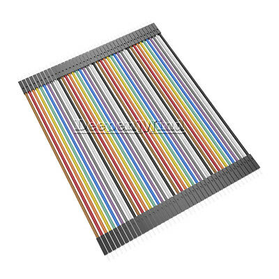 40pcs Durable Dupont 10CM Male To Male Jumper Wire Ribbon Cable for Arduino AU