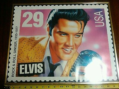 Elvis stamp picture wall hanging