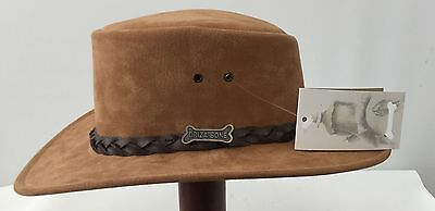 Driza-Bone  waterproof suede leather hat  Rust Fully Lined  Hunting Fishing