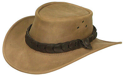 Jacaru  leather hat sport golf fishing hiking 59 cm large on big SALE