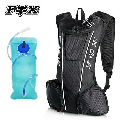 2L FOX Hydration Water Bag Pack Backpack Rucksack Cycling Hiking Camping Bladder