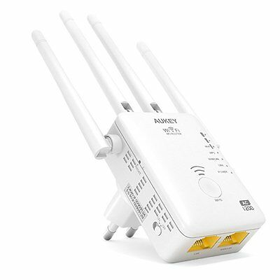 AUKEY Wifi Repeater Dual Band 5GHz 867Mbps + 2.4GHz 300Mbps AP / Router AC1200 R