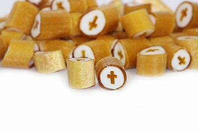 1kg Rock Candy Gold Cross - Party Wedding Favours Christening Communion Lollies