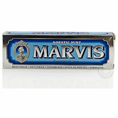 Marvis Aquatic Mint Luxury Italian Toothpaste - 75ml (Blue)