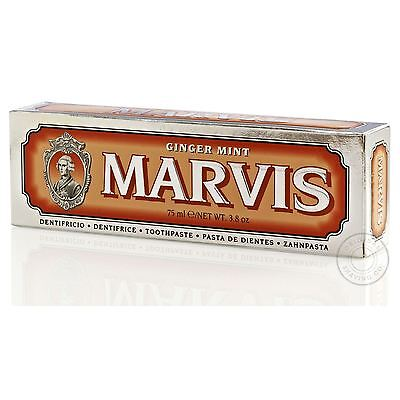 Marvis Ginger Mint Luxury Italian Toothpaste - 75ml (Orange)