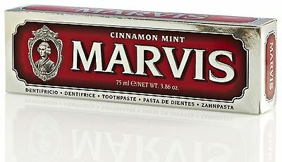 Marvis Cinnamon Mint Luxury Italian Toothpaste - 75ml (Red)