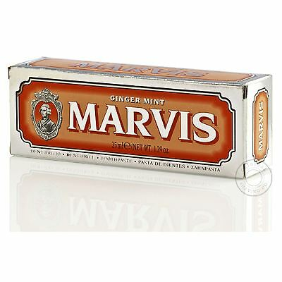 Marvis Ginger Mint Travel Tube Luxury Toothpaste - 25ml (Orange)