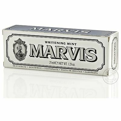 Marvis Whitening Mint Travel Tube Luxury Toothpaste - 25ml (Silver)