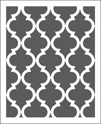 Moroccan Wall Stencil Pattern *Choose size hole* Large scale For crafting