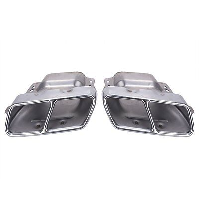 Fits For Mercedes Benz W164/221 AMG 05-13 Exhaust Muffler Tips Pipe Quad Chrome