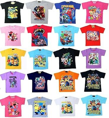 NEW Sz 1-12 KIDS T-SHIRTS TEE TOP BOYS GIRLS CHILDREN OUTFITS SUMMER PAW PATROL