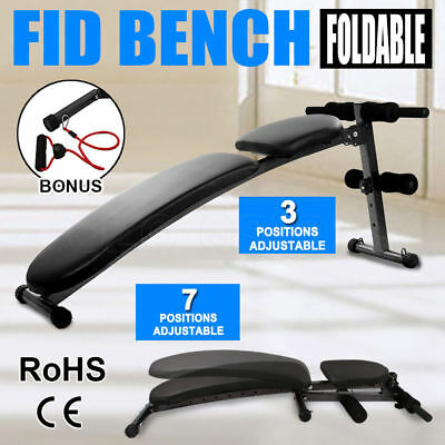 Adjustable Weight FID Bench Flat Decline Incline Home Gym Exercise Fitness Situp