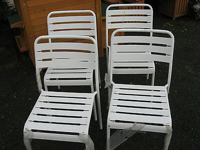 White garden Metal Chairs Set Of 4