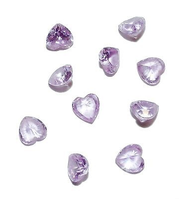 10 x Lilac Heart Cut Loose Gem Stones - 6 x 6mm - 15.62ct Total