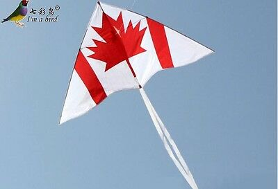 NEW 1.5m 59-inch Triangle Maple leaf kite single line Outdoor fun Sports Toys