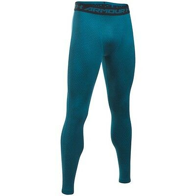 Legging de compression Under Armour Heatgear imprimé Bleu Peacock pour homme