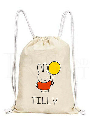 Personalised Childrens Beauty /& The Beast Belle Drawstring Canvas Gym// PE Bag