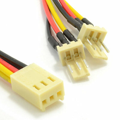 3 Pin Motherboard Fan Splitter Adapter Cable Lead 16cm
