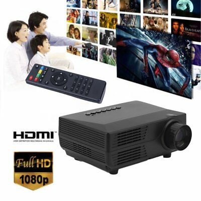 Mini HD 1080P LED Projector Home Cinema Theater Multimedia PC USB TV AV HDMI UK