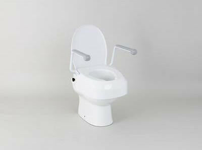 Height Adjustable Raised Toilet Seat With Armrests Toileting Aid  - VAT Exempt