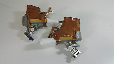 Maquet Surgical Table Traction Boot Pair with Attached Rotating Tilting Clamps