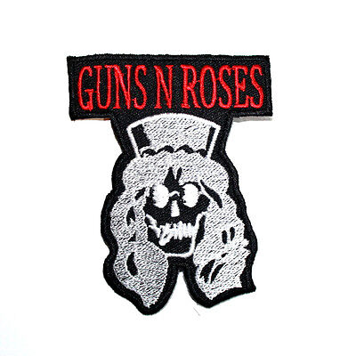 Guns N Roses Hard Rock Music Punk Hoodie T-Shirt Jacket Embroidery Iron on patch